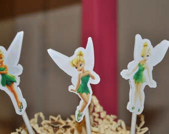 Tinkerbell Cupcake Toppers Cake Toppers Set of 12