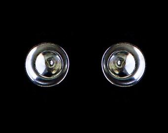 Sterling silver eclipse earrings.