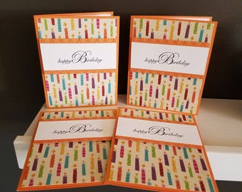 Birthday Candles Card Set