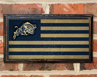 US Navy Flag Midshipmen Get Em Goat Wall Art Sign Plaque Gift Present Home Decor Vintage Style USNA Sailor Naval Academy Football Antique