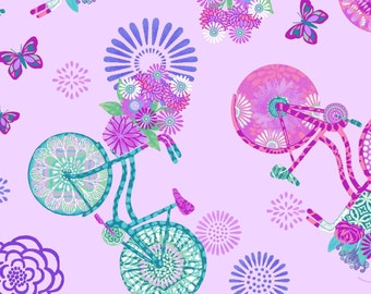 Enjoy the Ride by Studio E, Butterflies and Bicycles on Lavender, Yard