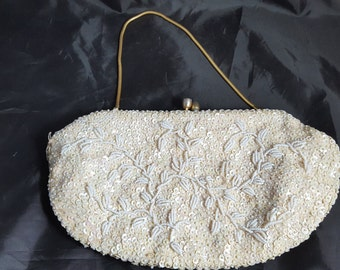 Vintage 50s-60s Sequined & Beaded Bag