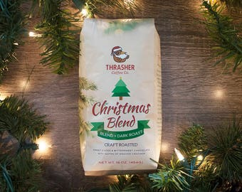 Christmas Blend by Thrasher Coffee Co. Coffee. Christmas. Coffee Beans. Coffee Gifts. Coffee Mug. Cafe. Coffee Lover. Roasted Coffee.