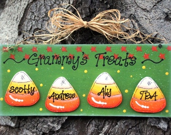 Halloween Wood Candy Corn Sign Decoration - Door or Wall Hanging