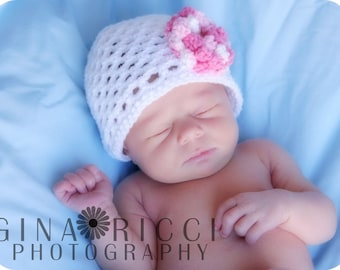 Hat CROCHET PATTERN Baby Beanie Cloche Easy 0 to 6 years Baby and Girl