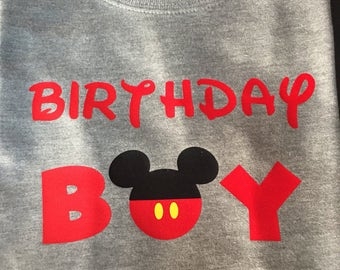 Mickey birthday boy shirt