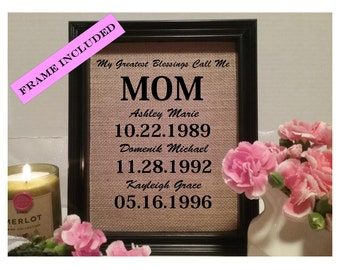 Personalized Mothers Day Gift | Gift for Mom | Mom from Daughter | Birthday Gift for Mom | Mom gifts from son | Mom Gift from Daughter