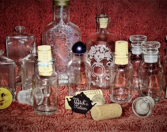 Halloween! Make your own potions! 11 bottles, corks and more!