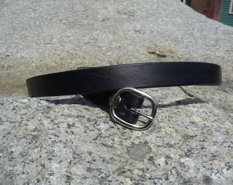 "1"" Black Dress Belt"