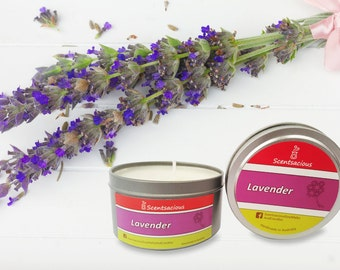 Scentsacious Lavender Scented Soy Candle 225g Large Tin
