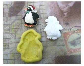penguin mold - Silicone mold , push mold , food supplies mold , clay supplies molds , mold    # 41 s