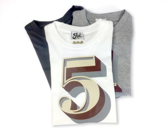 5th Birthday Shirt! Number Five T-Shirt- kids number 5 tshirt- outfit for boy or girl- Any size! Famous Five! Age 5 top, Fifth Celebration!