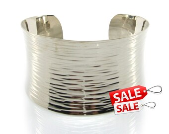 Silver Cuff Bracelet Silver Bracelet Cuff Brass Cuff Bracelet Brass Bracelet Cuff Wide Cuff Bracelet Silver Hammered Bracelet Cuff 003