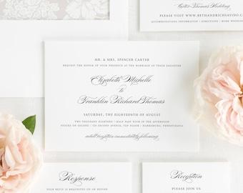 Timeless Elegance Wedding Invitations - Deposit