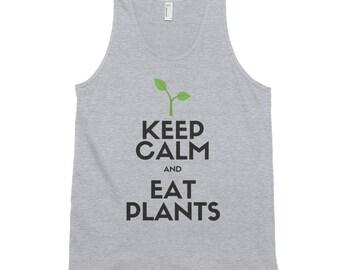 Vegan Vegetarian Keep Calm and Eat Plants Classic Tank Top