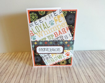 New Dog Card, Congratulations New Dog Card, Dog Card, Card for Dog, Embellished Card, Blank Card, Greeting Card, Greeting Card for Dog