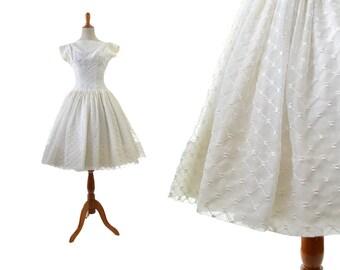 des années 1950 robe de mariée courte femmes vintage forme et flare 50 s xs extra petit oeillet dentelle simple classique rétro classique traditionnel blanc petite