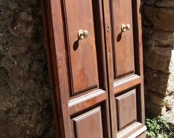 Vintage Italian walnut front door