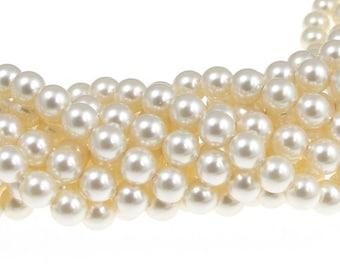 500 CREAM 6mm Swarovski Crystal Pearl Beads 5810 6mm Swarovski Pearls Bridal Wedding Jewelry Beads FACTORY PACK