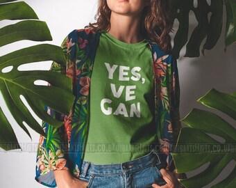 YES, VEGAN T-shirt   / Vegan T-shirt /  Premium Quality! / Fast Delivery to the USA , Canada , Australia & Europe !