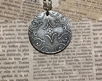 Vintage Pmc pendant has the look of an antique piece
