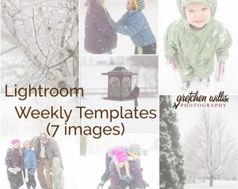Lightroom Weekly Layout Templates P365