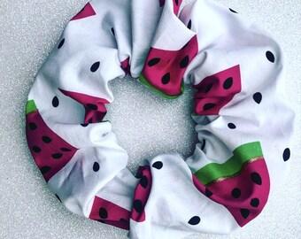 Fruit scrunchie/watermelon scrunchie/watermelon hairband/fruit hair elastic/children's hair tie