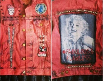 Red Marilyn #Flawless #Fearless Misfit vest  Levis size M