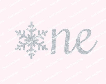 One Iron On, Snowflake, Winter One, Non-Shed Glitter, Silver, Shirt Iron On, DIY, Iron-On Heat Transfer, Glitter, NOT DIGITAL iron on decal