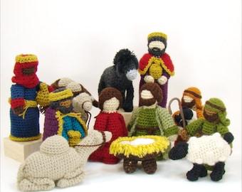 Crochet Pattern - Nativity Crochet Pattern - Creche Pattern - Christmas Pattern - Heirloom Crochet Pattern