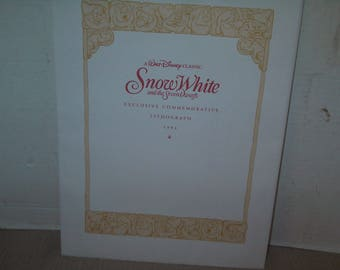 1994 Walt Disney Lithograph of Snow White and the 7 Dwarfs