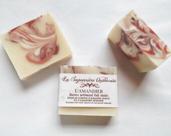Savon Amandier, Savon artisanal fait main 100% naturel, Almond Soap, Cold process All Natural Handmade Soap