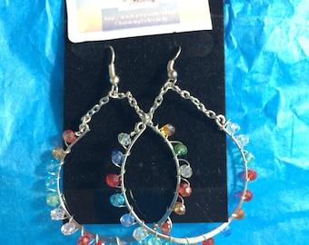Multi-color Crystal Earrings