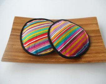 Rainbow Stripes Lavender Eye Pillows/Flax Seed and Lavender Eye Pillows