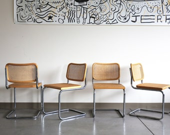 Sold *** Set of 4 Original Stendig Marcel Breuer B32 Cesca Chairs in Beech