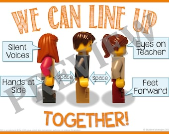 We Can Line Up! Classroom Poster