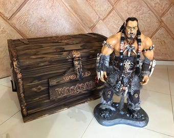 Art Dolls, Miniature, the hero of the Warcraft with the wooden box