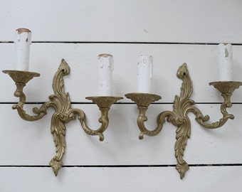 SALE Lovely pair of vintage French wall lights