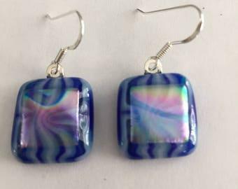 Earrings - Fused Dichroic Glass