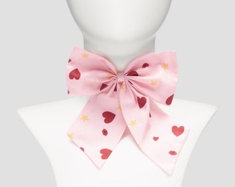 Bowtie choker pink