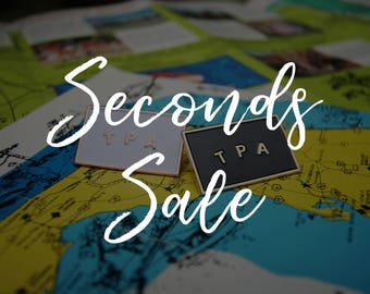 SECONDS SALE ~~ Flawed ~~ Tampa Soft Enamel Pin - TPA Lapel Pin // Cloisonné // Badge