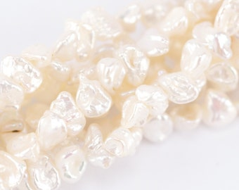 8mm White Keishi Pearls (P16)