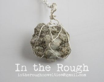 Quartz Chunk Wrapped Pendant
