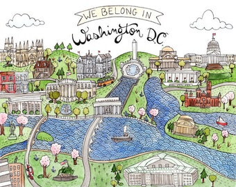 We Belong in Washington DC print 8.5x11""
