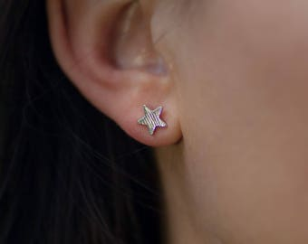 Stud | free shipping | earring | silver | minimalistic | star