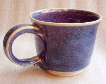 Purple, Blue and Magenta Wheel Thrown Pottery Cups or Mugs - Purchase one or more! Cup Mug