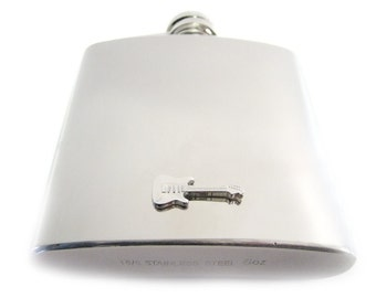 Guitar 6 oz. Stainless Steel Flask