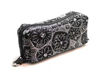 Essential Oil Case Holds 10 Bottles Essential Oil Bag Black and White Dahlia