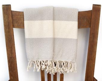 PESHKIR Set Gast Handtuch Gesicht Handtuch Küche Handtuch Baumwolle türkische Handtuch handgewebte Baumwolle Badezimmer Handtuch Geschirrtuch Spa Handtuch Diamant BEIGE
