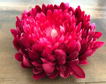 Chrysanthemum Tea Light - Magenta